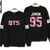 Kpop BTS Bangtan Boys JIMIN 2015 the Mood for Love thin Sweatshirts dress k-pop Jacket clothes Dongkuan k pop exo Long sleeve Hoodies = 1932177540