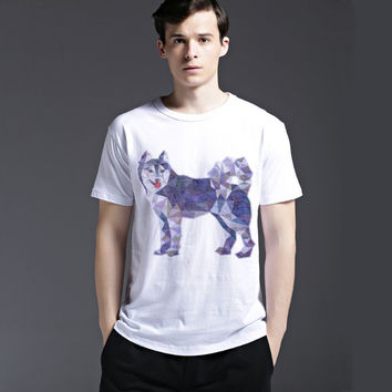 Fashion Short Sleeve Cotton Men's Fashion Summer Tee Pattern Strong Character Casual T-shirts = 6450944963
