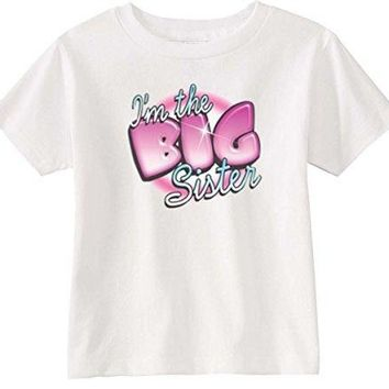 Lil Shirts Little Girls I'm The Big Sister Toddler Graphic Tee