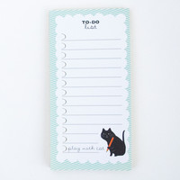 Happy Cat Day To Do List Memo Pad