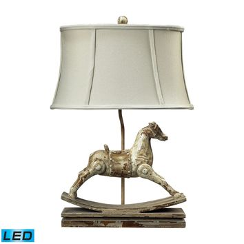 Carnavale Rocking Horse LED Table Lamp in Clancey Court Finish Clancey Court