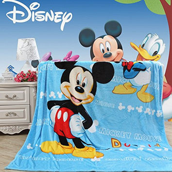 Blaze Children's Cartoon Printing Blanket Coral Fleece Blanket 59 By 79 (Mickey Mouse)