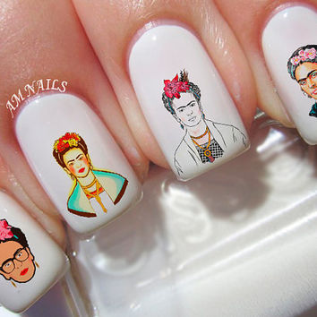 38 Frida Kahlo Nail Decals