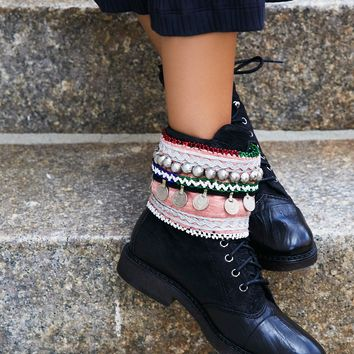 Free People Vintage Embellished Boot Cuff