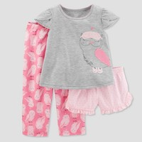 Toddler Girls' 3pc Owl Pajama Set - Just One You® made by carter's Light Gray 2T