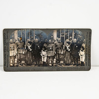 Keystone Stereoview Marshal Foch, Joffre and General Pershing and Dubail in Paris, WWI