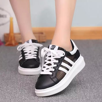 Women Fashion Sneakers Thick Soled Shoes = 4443123652