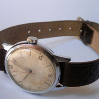 Vintage Mechanical Swiss Mens Wrist Watch No Name Working