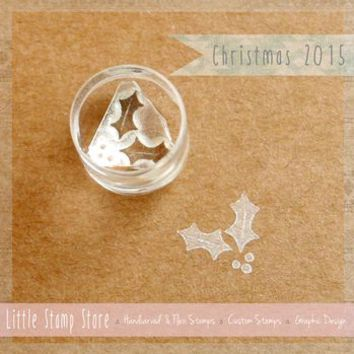 Tiny Holly Crystal Clear Stamp