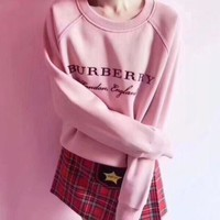 Burberry Fashion Casual Embroider Long Sleeve Pullover Sweatshirt Top Sweater G