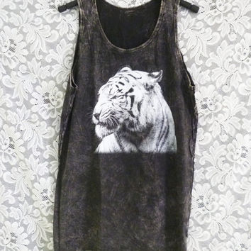 Bengal tiger top wildlife animal workout shirt/ muscle tank/ teen tank top /women shirts/ sale clothing size M
