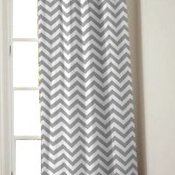 """52"""" Wide Custom Chevron Curtains - You Design - Set of 2 Panels - Pick Your Chevron Color - FAST SHIPPING"""