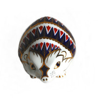 Royal Crown Derby Hedgehog Paperweight First Quality Vintage Bone China Gilded Imari Animal Figurine Collectibles Home Decor Gift Curiopolis
