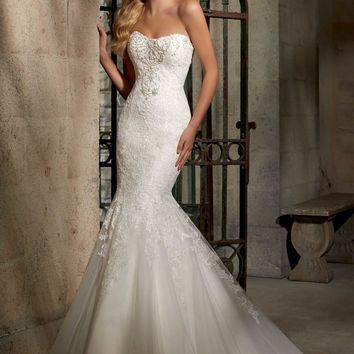Mori Lee 2707 Mermaid Wedding Dress