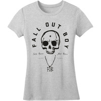 Fall Out Boy Women's  Skull Girls Jr Grey