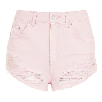 MOTO Pink Mini Denim Shorts | Topshop