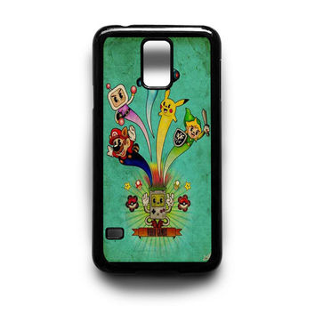 Nintendo video game art Samsung Galaxy S3 S4 S5 Note 2 3 4 HTC One M7 M8 Case