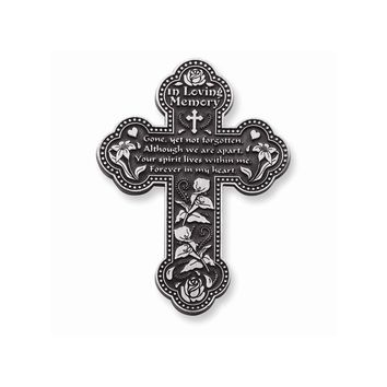 In Loving Memory Pewter Finish Wall Cross - Perfect Religious Gift