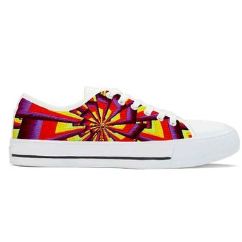 Fractal by Alex Aliume - Low Top Canvas Shoes