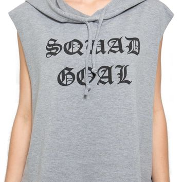 Sleeveless Squad Hoodie in Gray