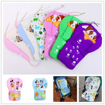 Cartoon Baby Infant Cotton Stroller Liner Seat Cushion Soft Thick Pram Pad Baby Chair Car Seat Mat Stroller Cushion Accessories