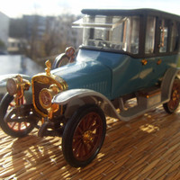 Russobalt C24 40 Limousine 1913 Soviet Vintage Car Model Made in USSR in 1970s.