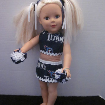 American Girl Tennessee Titans Cheer Outfit By Sweetpeas Bows & More