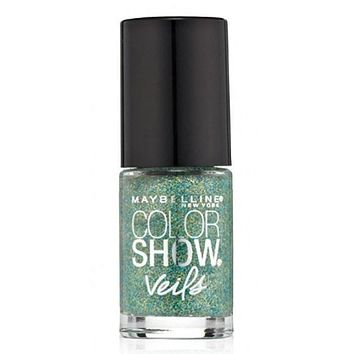 Maybelline New York Color Show Veils Nail Lacquer Top Coat - Teal Beam