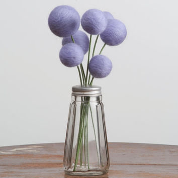 Bouquet of Needle Felted Lavender Flowers in Vintage by meghanica