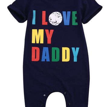 Newborn cotton Babies colorful letter LOVE mummy/daddy rompers Baby Boy girl Romper Jumpsuit Outfits One-pieces