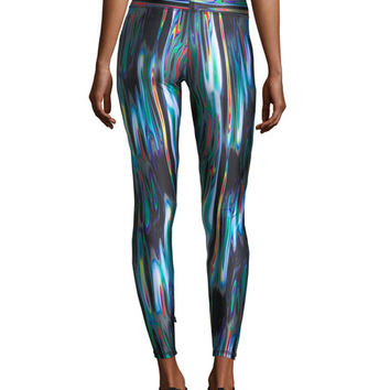Terez Liquid Metal Performance Leggings