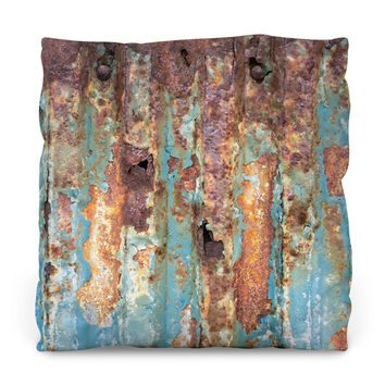 Rusted Metal Outdoor Throw Pillow