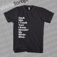 KID CUDI Crookers Day N Nite Lyrics - Black T-Shirt - Day and Night DJ Hip Hop