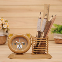 Pen Children Cartoons Home Surface Stationary Clock [6034262849]
