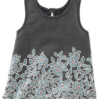 Knit-To-Woven Printed Tank