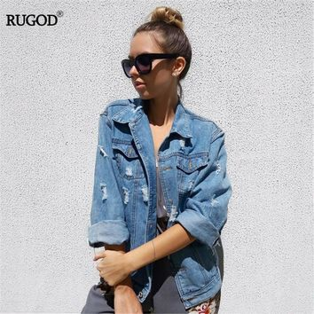 Trendy Women Basic Coats Spring And Autumn Women Denim Jacket 2018 Vintage Long Sleeve Loose Female Jeans Coat Casual Girls Outwear AT_94_13