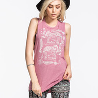 O'neill Delhi Womens Muscle Tank Dusty Pink  In Sizes