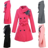 Women Double-breasted Luxury Winter Wool Coat Jacket  3351 [8321434695]