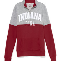 Indiana University Colorblock Half Zip Pullover - PINK - Victoria's Secret