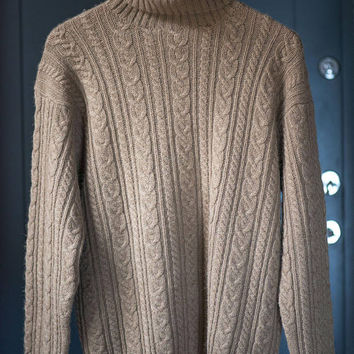 c439ea4529 Turtle neck sweater unisex Ralph Lauren. Camel hair and wool vin