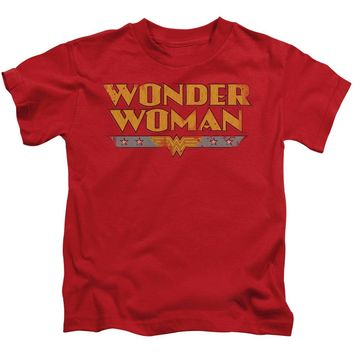Wonder Woman Logo Short Sleeve Juvenile 18/1
