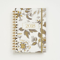 2018 Black Floral Watercolor Planner