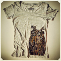 SPRING SALE Owl Vintage T-shirt-Women's Enter code ACORN at checkout for 10% off