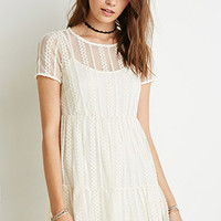 Tiered Eyelet Lace Dress