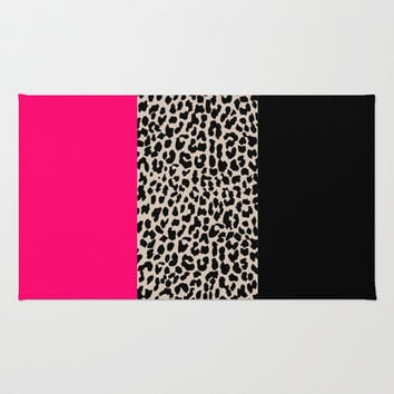 Leopard National Flag IV Area & Throw Rug by M Studio