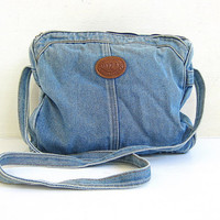 Vintage denim jean purse. small bag