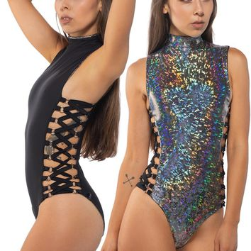 Espionage Reversible Bodysuit in Geode & Black