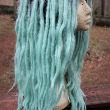 Mint Green Lace Front Dreadlock Wig * Synthetic Dreads * Pastel Goth * Punk * Kawaii * Afropunk * Fairy Kei * Mermaid *
