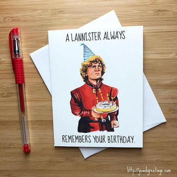 Game of Thrones Tyrion Lannister Peter Dinklage Happy Birthday Card FREE SHIPPING