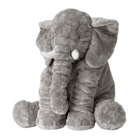 JÄTTESTOR Soft toy Elephant/grey - IKEA